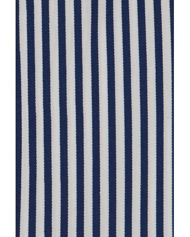 chemise homme de luxe haut de gamme : Chemise homme à rayures bleu foncé