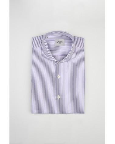 chemise homme de luxe haut de gamme : Chemise homme à rayure violette