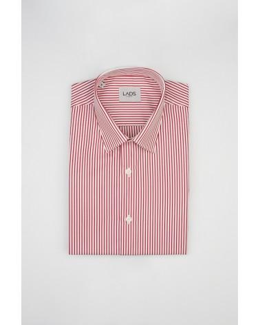 chemise homme de luxe haut de gamme : Chemise homme à rayures rouge