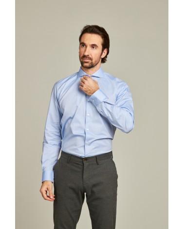 chemise homme de luxe haut de gamme : Chemise homme bleu ciel