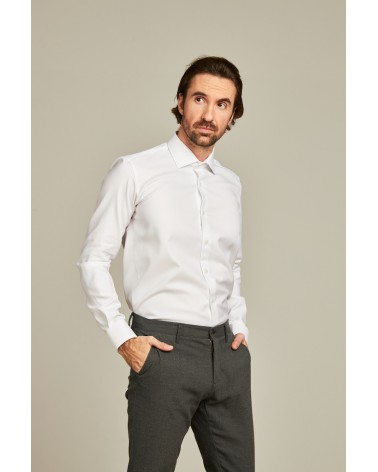 chemise homme de luxe haut de gamme : Chemise homme blanche
