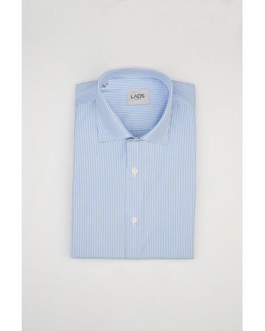 chemise homme de luxe haut de gamme : Chemise homme bleu à rayures