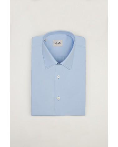 chemise homme de luxe haut de gamme : Chemise homme unie Oxford bleu