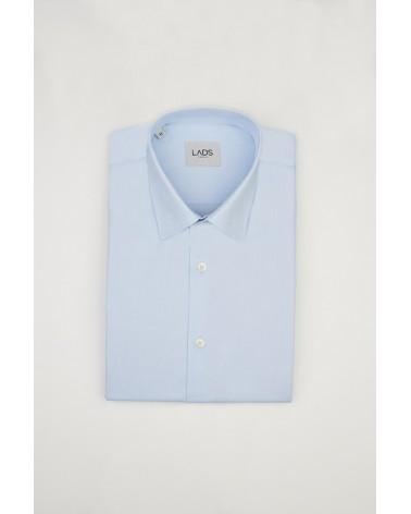 chemise homme de luxe haut de gamme : Chemise bleu clair Oxford