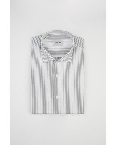 chemise homme de luxe haut de gamme : Chemise homme à rayures grise