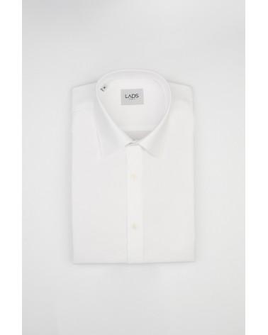 chemise homme de luxe haut de gamme : Chemise blanche popeline