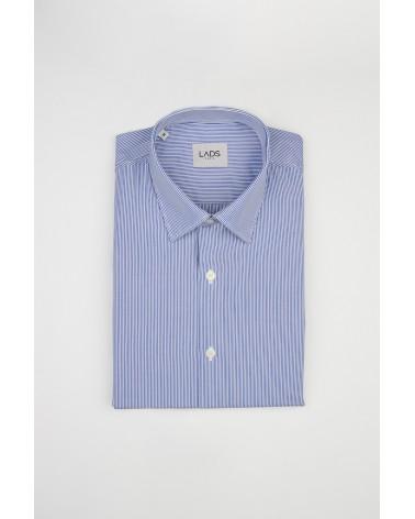 chemise homme de luxe haut de gamme : Chemise homme à rayures fines bleu