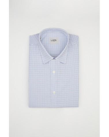 chemise homme de luxe haut de gamme : Chemise homme carreaux bleu