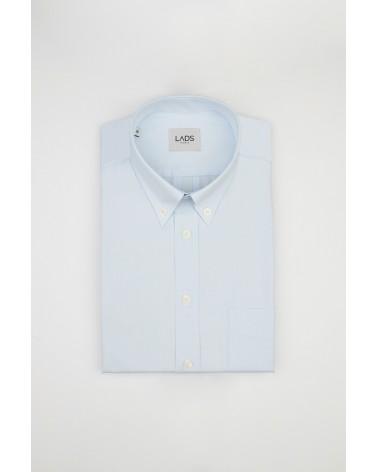 chemise homme de luxe haut de gamme : Chemise homme casual bleu clair