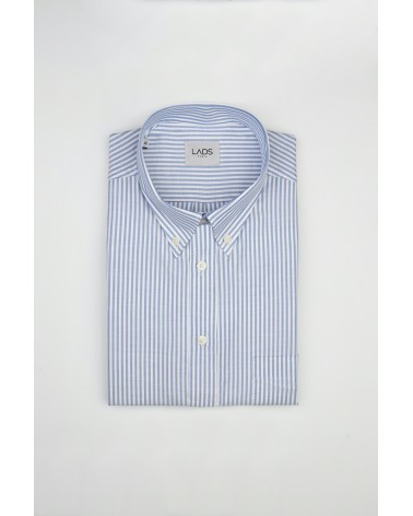 chemise homme de luxe haut de gamme : Chemise homme Casual à rayures bleues