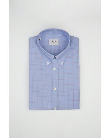 chemise homme de luxe haut de gamme : Chemise homme prince de galles à carreaux