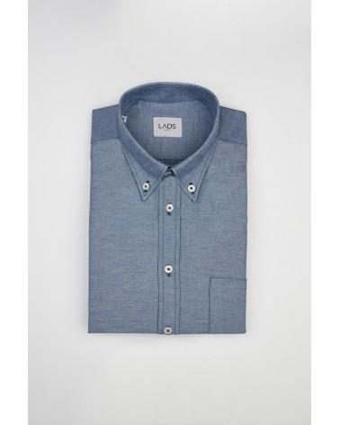 chemise homme de luxe haut de gamme : Chemise homme denim bleu