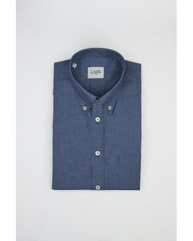 chemise homme de luxe haut de gamme : Chemise homme bleu imprimé denim